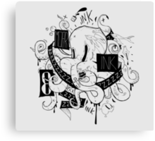 Octopus Ink Canvas Print