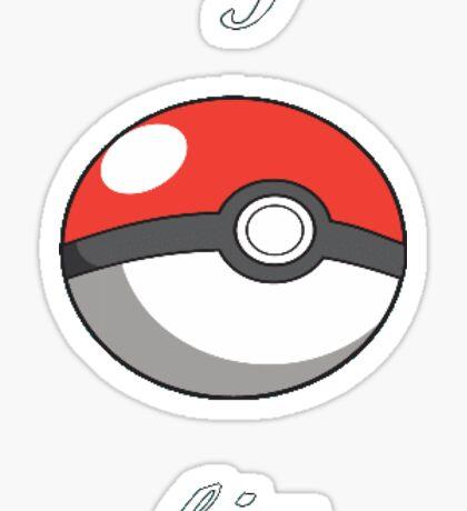 Pokémon I catch him Sticker