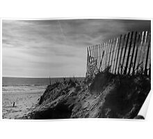 Beach Fence Poster