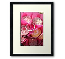 Pink cup cakes Framed Print