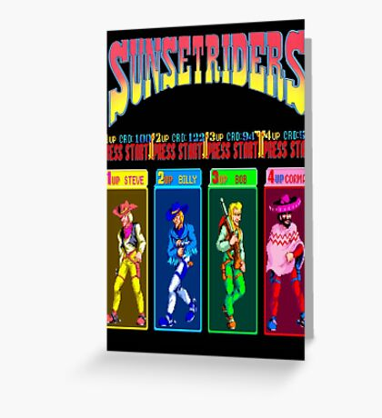 Sunset Riders Character Select Greeting Card