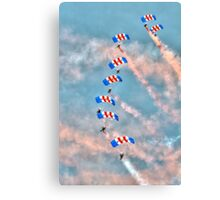 Falcons - RAF Parachute Display  Canvas Print