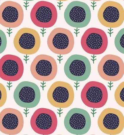 Seamless doodle flowers pattern. Cute kids background. Sticker