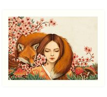 Red Fox Totem. Art Print