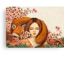 Red Fox Totem. Canvas Print