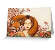 Red Fox Totem. Greeting Card