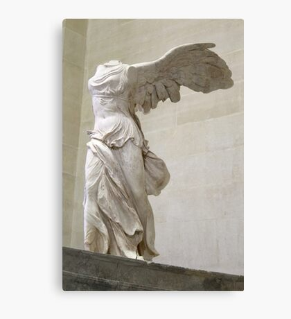 Winged Nike of Samothrace Louvre Canvas Print
