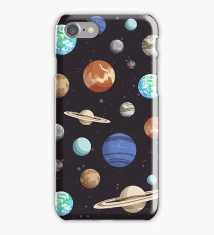 Retro Planet Design iPhone Case/Skin