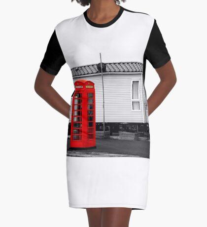 Telephone box Graphic T-Shirt Dress