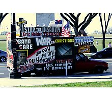 Protest Van Photographic Print