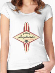 Classic Longboards Custom Surfboards Women's Fitted Scoop T-Shirt
