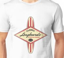 Classic Longboards Custom Surfboards Unisex T-Shirt