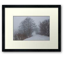 Snowstorm Magic Framed Print