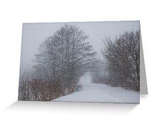 Snowstorm Magic Greeting Card