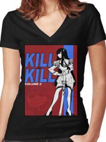 KILL LA BILL 2 Women's Fitted V-Neck T-Shirt
