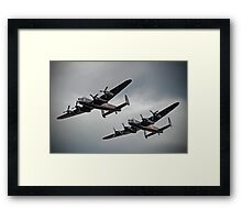 The 2 Lancasters - Tail Chase - Dunsfold 2014 Framed Print