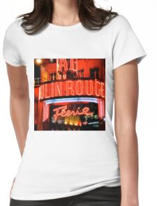 Moulin Rouge Paris Club Entrance  Womens Fitted T-Shirt