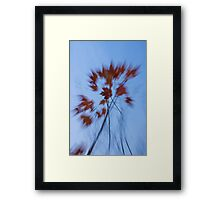 Abstract Impressions of Fall - the Song of the Wind  Framed Print