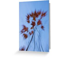 Abstract Impressions of Fall - the Song of the Wind  Greeting Card