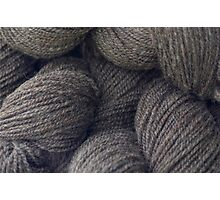 Natural Grey Handspun Yarn Photographic Print