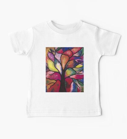 Stained Glass Tree Baby Tee