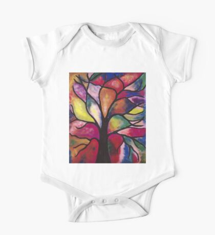 Stained Glass Tree One Piece - Short Sleeve