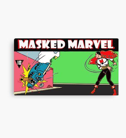 Gang way for the original Masked Marvel Canvas Print