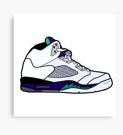 Jordan Retro 5 Grapes Canvas Print