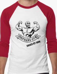 ORPHANS GYM RAISED BY IRON BLACK Men's Baseball ¾ T-Shirt