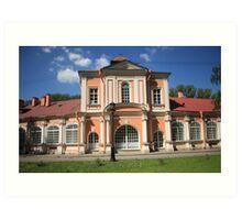 building  in classical style tilt shot Art Print