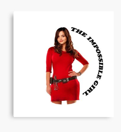 Clara Oswald new impossible Canvas Print