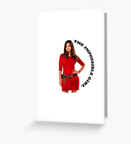 Clara Oswald new impossible Greeting Card