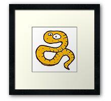 Funny sketchy cartoon snake Framed Print