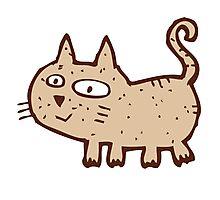 Funny cute cartoon cat Photographic Print