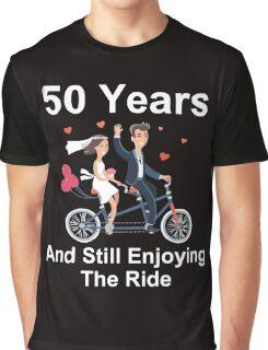 50th Anniversary TShirt 50 Years And Still Enjoying The Ride Graphic T-Shirt