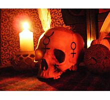 Samhain Candlelight at the Ancestral Shrine Photographic Print