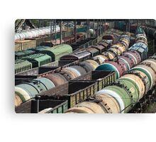 Trains Railroad Junction Canvas Print