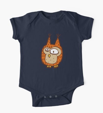 Cute funny little owl One Piece - Short Sleeve