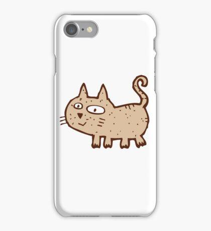 Funny cute cartoon cat iPhone Case/Skin