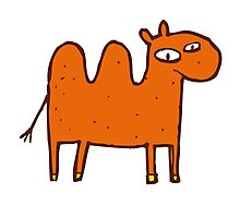 Cute funny cartoon Bactrian camel Photographic Print