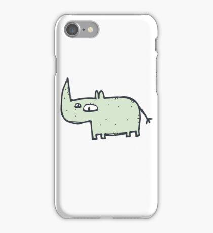 Funny cute cartoon rhinoceros iPhone Case/Skin