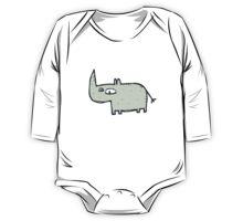 Funny cute cartoon rhinoceros One Piece - Long Sleeve