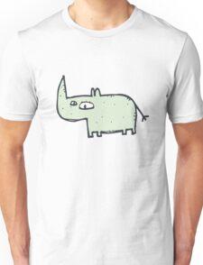 Funny cute cartoon rhinoceros Unisex T-Shirt