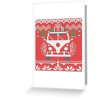 Vintage Retro Camper Van Sweater Knit Style Greeting Card