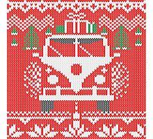 Vintage Retro Camper Van Sweater Knit Style Photographic Print