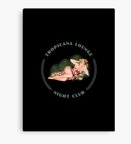 Tropicana Lounge Night Club Hula Girl 2 Canvas Print