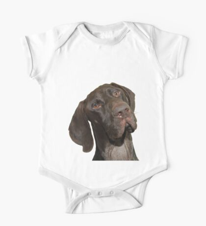 Glossy Grizzly German Shorthaired Pointer One Piece - Short Sleeve