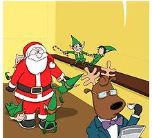 Slimming Santa by adraftee