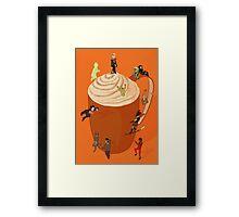 Pumpkin Spiced Latte Framed Print