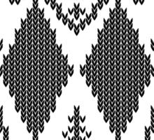 Double Black Diamond Crossbones Extreme Ugly Xmas Sticker